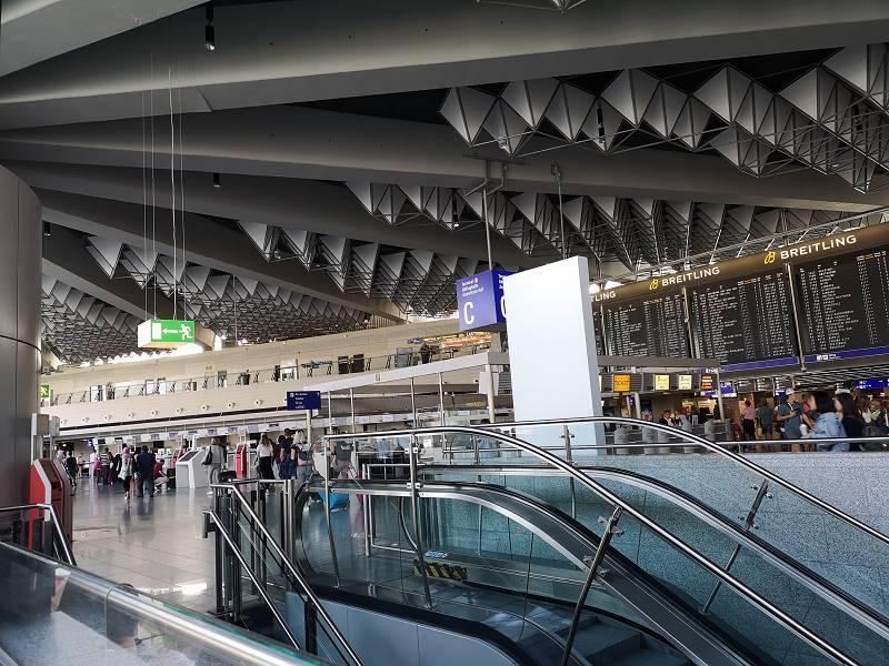 Terminal C im Frankfurter Flughafen