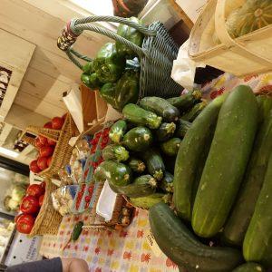 ganz frisches Gemüse