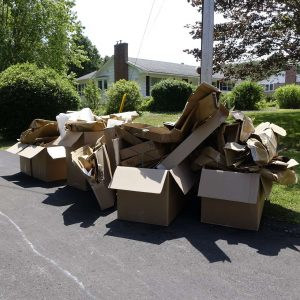 Verpackungsabfall - Karton