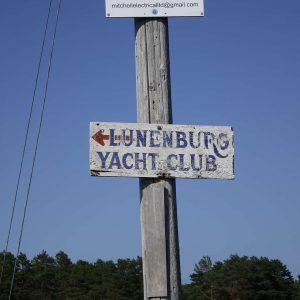 Schild zum Lunenburg Yacht Club