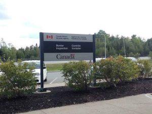 Schild von Border Canada