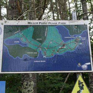 Wanderkarte von Miller Point Park